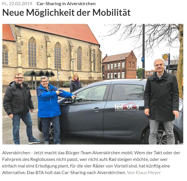 Car Sharing - Alverskirchen